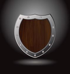 wood shield blank vector image