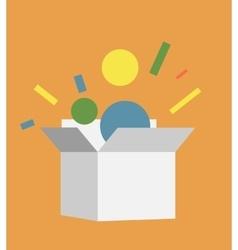 Flat style box icon vector image