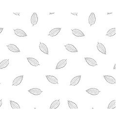 hand drawn leaves in doodle style -seamless vector image vector image