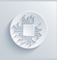 modern circuit board icon vector image