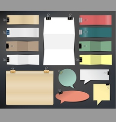 Collection of various papers vector image vector image