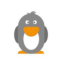 penguins isolated on white sticker for children vector image