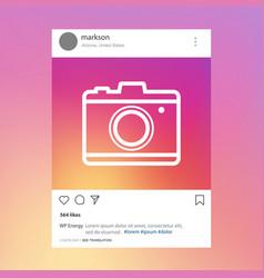 social network post photo frame vector image