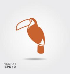 toucan bird icon vector image