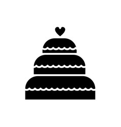 cake wedding icon sign o vector image