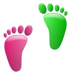 Children footprint vector image vector image
