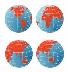 geographical icons vector image vector image