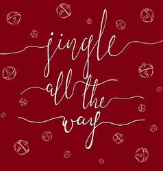 Jingle all the way vector