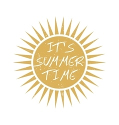 Summer time motivational card vector image vector image