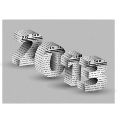 2013 HAPPY NEW YEAR NEWSPAPER vector image