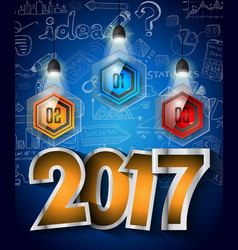 2017 new year infographic and business plan vector image vector image