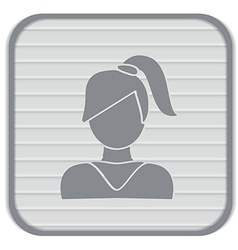 A female avatar girl with hair tail Avatar of a vector image