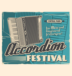 Accordion folk music instruments live festival vector