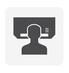 air conditioner service icon vector image