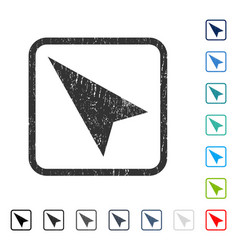 Arrowhead left-up icon rubber watermark vector