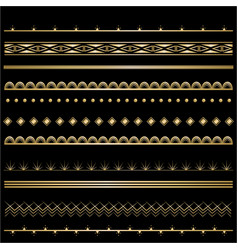 Art deco template golden-black set of frames for vector