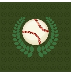 Baseball ball sport vector