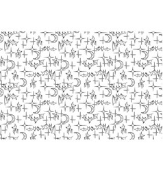 bat night tile texture vector image