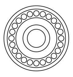 Bearing icon outline style vector