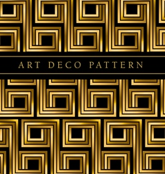 Black and gold seamless pattern in ar deco style vector