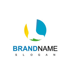 boot shoe logo fashion store icon vector image