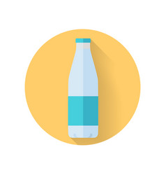 Bottle with milk flat style vector