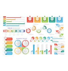 Bright infographic templates in set vector