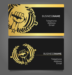 Business card for a gym vector