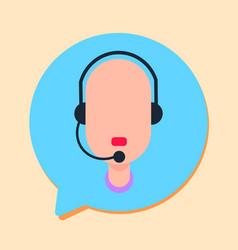 Callcenter man support online operator vector