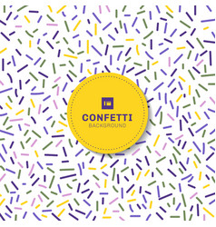 carnival festive colorful confetti on white vector image