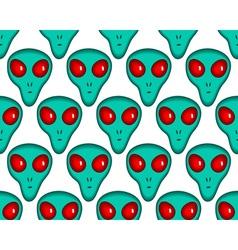 Cartoon alien pattern vector