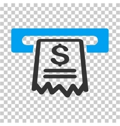 Cashier Receipt Icon vector image