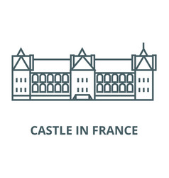 castle in france line icon castle in vector image