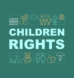 Children rights word concepts banner vector