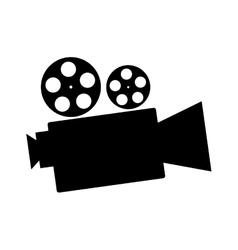 Cinema camcorder equipment vector