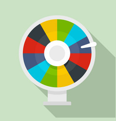 color lucky wheel icon flat style vector image
