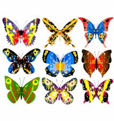Colorful butterflies vector
