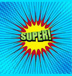 comic book bright concept vector image