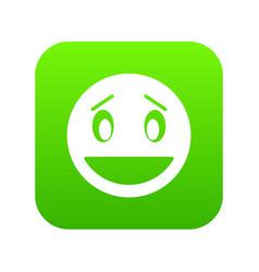 confused emoticon digital green vector image