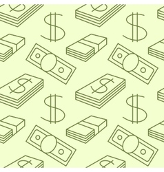 Currency seamless pattern Dollar sign texture vector
