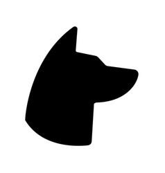 dog icon animal symbol pet pictogram flat sign vector image