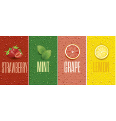 drinks and juice background with drops vector image