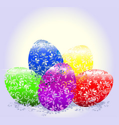 Easter colorful eggs image for design vector