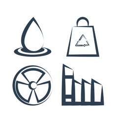 ecology clean renewable energy icons vector image
