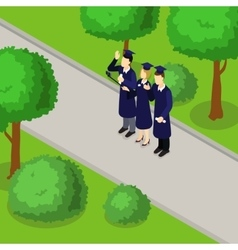 Education Student Isometric Composition vector image