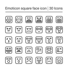 Emoticon square icon vector