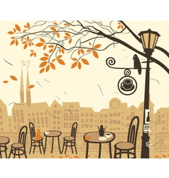 fall city vector image