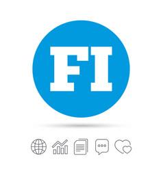 finnish language sign icon fi translation vector image