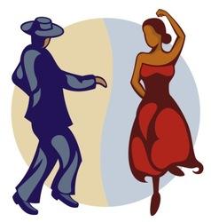 Flamenco dancers vector