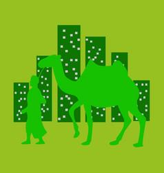Flat icon on theme arabic business arab vector